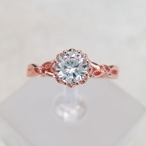 Jewelry - *only size 8 left!* Delicate Rose Gold Solitaire